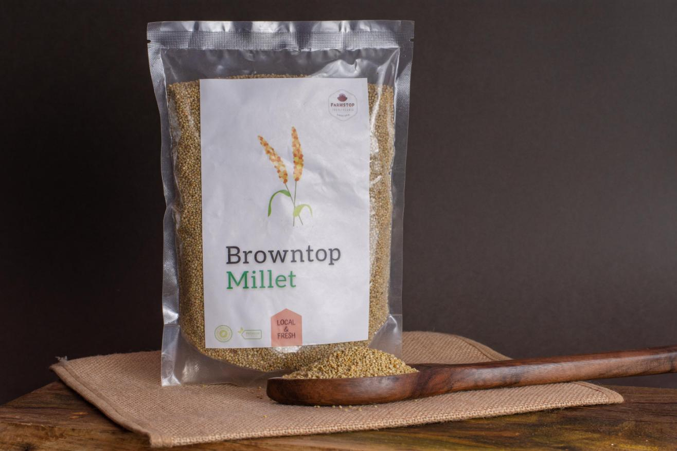 Browntop Millet has the highest amount of maximum digestible Fibre